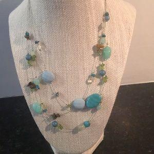 Lia sophia multi-strand necklace